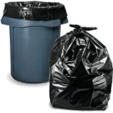 33 Gallon Trash Bags (100 Count w/Ties Value Pack), Large Black Garbage Bags 30 Gallon - 32 Gallon - 35 Gallon.