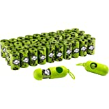 Franklin Pet Supply Biodegradable Eco Dog Waste Bags – 42 Rolls – 840 Total Bags – 2 Holders – Poop Bags – Large – Pickup Bag