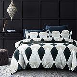 MILDLY エジプト超長綿100% 布団カバー 4点セット シングル :掛布団カバー ボックスシーツ 枕カバー*2 / 肌ざわりが良い 通気性に富んで 毎日の快眠で元気に過ごしたい方に(シングル・Ghana)