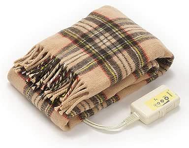 LIFEJOY 電気毛布 ひざ掛け 洗える 日本製 あったかブランケット かわいい 120cm×62cm ベージュ JBH121
