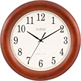 La Crosse Technology La Crosse Technology WT-3122A 12.5 Inch Cherry Wood Atomic Analog Clock, WT-3122A, Cherry Walnut, 12.5""