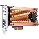 Qnap QM2-2S-220A Dual M.2 22110/2280 SATA SSD Expansion Card (PCIe Gen2 X2), Low-Profile Bracket Pre-Loaded, Low-Profile Flat