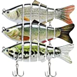 TRUSCEND Fishing Lures for Bass Multi Jointed Swimbaits Slow Sinking Hard Lure Fishing Tackle Kits Lifelike