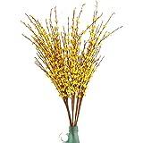 "(10 PCS Yellow) - Misswarm 10 Pieces 29.5"" Long of Jasmine Artificial Flower Artificial Flowers Fake Flower for Wedding Home"