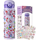 HULASO Gifts for Girls Decorate Your Own Water Bottles with Tons of Rhinestone Glitter Gem Stickers Girls DIY Arts and Crafts