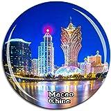 Grand Lisboaカジノマカオ中国冷蔵庫マグネット3 Dクリスタルガラス観光都市旅行お土産コレクションギフト強い冷蔵庫ステッカー