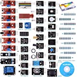 kuman K5-USFor Arduino Raspberry pi Sensor kit, 37 in 1 Robot Projects Starter Kits with Tutorials for Arduino Uno RPi 3 2 Mo