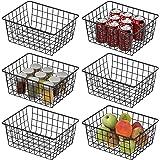 Wire Basket, Cambond 6 Pack Wire Storage Baskets Durable Metal Basket Pantry Organizer Storage Bin Baskets for Kitchen Cabine