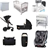 Babyworth Deluxe Newborn Baby Package:Maxi COSI Moda Car Seat Joolz Day Pram Avent Bottle Childcare Bath Centre Etc