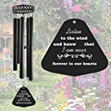 Memorial Wind Chimes for Outside Deep Tone,30' Windchimes Sympathy Gift Soothing Relaxing Melody, Metal Wind Chime for Mom ,G