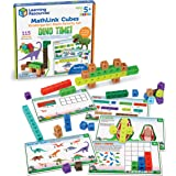 Learning Resources MathLink Cubes Kindergarten Math Activity Set: Dino Time! Educational Counting Toy, Math Cubes, Linking Cu