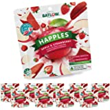 Batlow Happles Crispy Apple Slices - Freeze Dried & Coated in Strawberry Powder – Gluten Free, Lactose Free & Low Fat Snack (