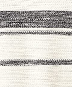 Cotton Stripe Crewneck Sweater 1213-105-3190: White