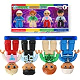 Pythagoras Magnets Magnetic Figures Set of 4 Toddlers Action Toy People, Magnetic Tiles Expansion Pack for Boys and Girls Han
