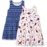 Spotted Zebra Girls' Toddler Disney Marvel Frozen Princess Knit Sleeveless Tiered Dresses, 2-Pack Star Wars Rebel Squad