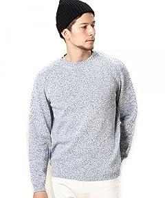 Middle Gauge Cotton Crewneck Sweater 1213-105-3073: Heather