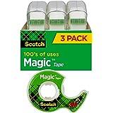 Scotch Magic Tape 19mm x 7.62m 3105 - 3 Pack