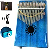 Moozica 17 Keys Kalimba Thumb Piano, Tone Wood Marimba EQ Version with Professional Kalimba Case and Learning Instruction (Ma