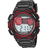 Amazon Essentials Men's Digital Chronograph Black Resin Strap Watch