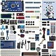 UCTRONICS説明書付き究極のスターターキット, MEGA 2560 R3、ESP8266モジュール、1602 LCD、NE555タイマー、RTCモジュール、DHT11温度センサー、ウォーターレバーセンサー、サウンドセンサーモジュール