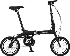 トランスモバイリー(TRANS MOBILLY) 保険付き 折りたたみ電動アシスト自転車 LEDライト付マグネット脱着式バッテリー採用 14インチ ULTRA LIGHT E-BIKE AL-FDB140E アルミフレーム 92201