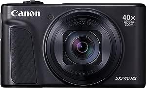 Canon デジタルカメラ PowerShot SX740 HS ブラック 幅110.1 × 高63.8 × 奥39.9 mm 光学40倍ズーム 4K動画対応 PSSX740HS(BK)