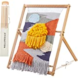 """WILLOWDALE 25.2"""" H x 19.3"""" W Weaving Loom with Stand Wooden Multi-Craft Weaving Loom Arts & Crafts, Extra-Large Frame, Develo"""