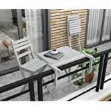 Interbuild Acacia Wood Indoor Outdoor Furniture Balcony Table Set, Bistro Cafe Coffee Dining Garden Table Chairs Stools Bar S