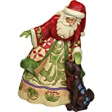 "Jim Shore Heartwood Creek Santa with Puppy Stone Resin Figurine, 9"""