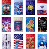 12 Pack Seasonal Garden Flag Set for Outdoors 12-inch x 18-inch