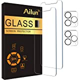 Ailun 2Pack Screen Protector Compatible for iPhone 12 Pro[6.1 inch] + 2 Pack Camera Lens Protector,Tempered Glass Film,[9H Ha
