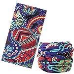 Multi-use Headband Bandana, Moko Lightweight Sports Headwear Versatile Moisture-Wicking Head Wrap, Seamless Breathable...