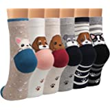 Ofeily Women Socks Cotton Casual Funny Cute Animal Patterned Socks