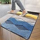 """Indoor Doormat Front Back Door Mat, 24""""x35"""" Water Absorbent Low-Profile Mud Mat Non Slip Large Door Rug for Inside Entrance M"""
