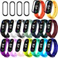 20 Pieces Strap Replacement Compatible with Xiaomi Mi Band 5 / Amazfit Band 5, Bands for Xiaomi Mi Band 5 Bracelet Wristbands