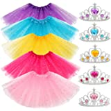 Yocharm 10 PCs Princess Tutu Crown Dress up Accessories Tiara Ballet Tutus Gifts Birthday Princess Party Favors for Girls