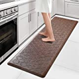 "WiseLife Kitchen Mat Cushioned Anti Fatigue Floor Mat,17.3""x60"",Thick Non Slip Waterproof Kitchen Rugs and Mats,Heavy Duty PV"