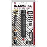 Maglite Mag-Tac 320 Lumens Crowned Bezel LED Flashlight, Black