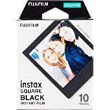 Fujifilm 16576532 Instax Square Black Frame Film 10 Sheet