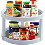 Rotatable Spice Rack with 2 Tiers,Home-Mart Freestanding Cupboard Door Herbs and Spice Racks Cabinet Spice Holder Organiser P