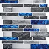 "Art3d 10-Sheet Premium Self-Adhesive Kitchen Backsplash Tiles in Marble, 12""X12"""