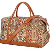 BAOSHA HB-14 OVERSIZED Travel Duffel Bag Carry on Weekender Overnight Bag For Women (Multicolour With Shoe Compartment)