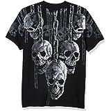 Liquid Blue Mens 31230-Black-XXX-Large Hanging Out T-Shirt Short Sleeve T-Shirt