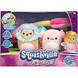 "Squishville by Squishmallows Mini Plush Room Accessory Set, Playground, 2"" Leonard and Archie Mini-Squishmallow and 1 Plush A"