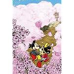 ディズニー iPhone(640×960)壁紙 ミッキー&ミニー 桜が咲き誇る道