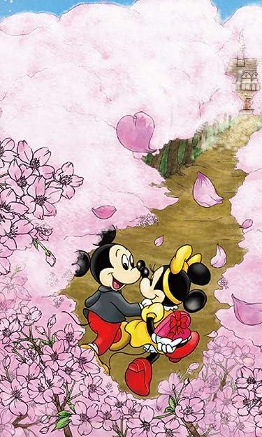 ディズニー  iPhone/Androidスマホ壁紙(480×800)-1 - ミッキー&ミニー 桜が咲き誇る道