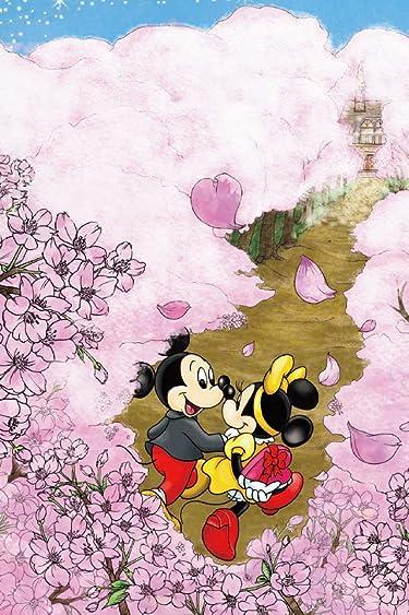 ディズニー  iPhone/Androidスマホ壁紙(640×960)-1 - ミッキー&ミニー 桜が咲き誇る道