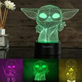 3D Illusion Star Wars Night Light for Kids, 3 Pattern and 16 Color Change Decor Lamp - Star Wars Toys and Gifts for Boys Girl
