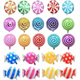 Hraindrop 21 pcs 18 Sweet Candy Balloons Round Lollipop Balloon Birthday Wedding Party Balloons