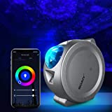 Star Projector, Galaxy Projector Night Light Working with Smart App and Alexa, 6 Color Lighting, 3 in 1 Ocean Wave Star Light